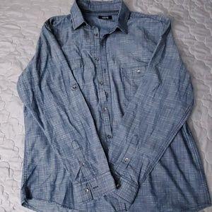 Alfani Blue button down shirt